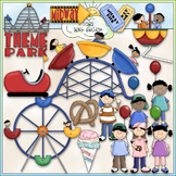 Theme Park - CU Clip Art & B&W Set