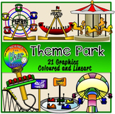 Theme Park Clipart (Amusement Park, Carnival, Roller Coaster)