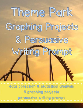 Theme Park Graphing Projects & Writing Prompt
