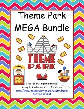 Theme Park MEGA Stations: ELA and Math