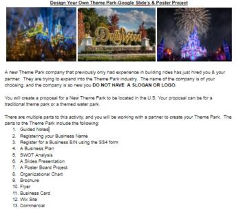 Theme Park Multimedia Marketing/BusinessEntrepreneurship Project PBL