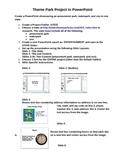 Theme Park PowerPoint Project