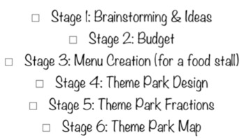 Theme Park Inquiry Maths Unit