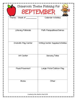 Theme Planning Template-FREEBIE!