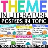 Theme Posters - 30 Most Common Theme Topics Found in Children's Literature
