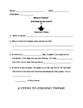 Theme Powerpoint Follow-along notes