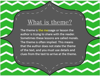 Theme Powerpoint with Differentiated Activities