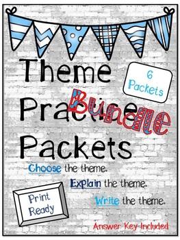 Theme Practice Packets Bundle