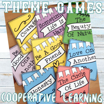 Theme Project, Lap Book, Theme Hunt Game and  Graphic Organizer BUNDLE
