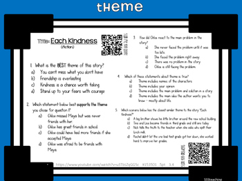 Theme - QR Listening Center and Work Mats