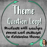 Theme Question Loop - Engagement Circle Activity - Poetry Focus