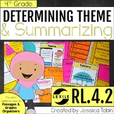 Theme RL4.2, Determining Theme in Literature Text, Summarizing