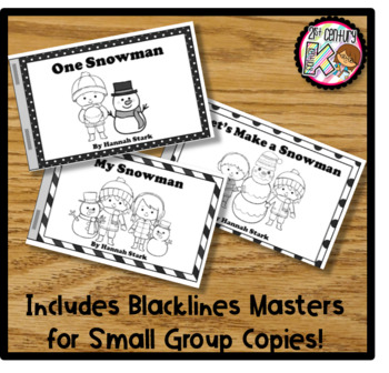Printable Kindergarten Leveled Books - Winter Snowman Levels A, B, C