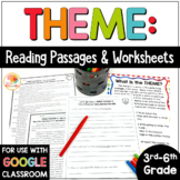 Theme Passages: Theme Reading Passages Worksheets for 3rd-6th grade