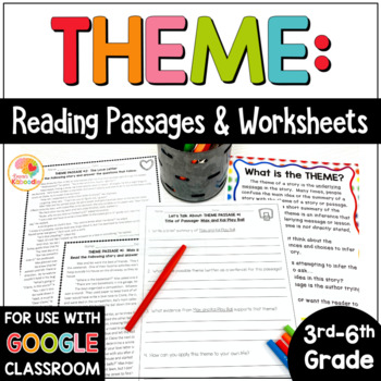 Theme Passages: Theme Reading Passages Worksheets for 3rd-6th ...