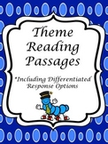 Theme Reading Passages; Task Cards w/ Differentiated Responses