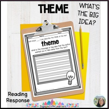 Theme Reading Response Graphic Organizer for Comprehension