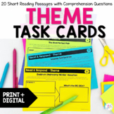 Theme Reading Task Cards - Distance Learning