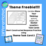 Theme Short Constructed Response Task Card 2 Freebie!