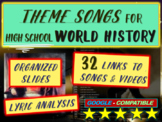 Theme Song for each week of high school world history: includes lyrics-hyperlink