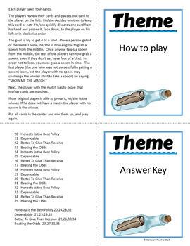 Theme, Spoons Game