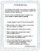 Theme Statement Handout For Elementary and Middle School Students
