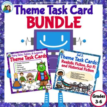 Theme Task Card Bundle: Folk and Fairy Tales, Legends, Sci
