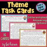Theme Task Cards | PDF and Digital | Distance Learning