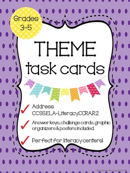 Theme of a Text Task Cards - CCSS.ELA-Literacy.RL.2