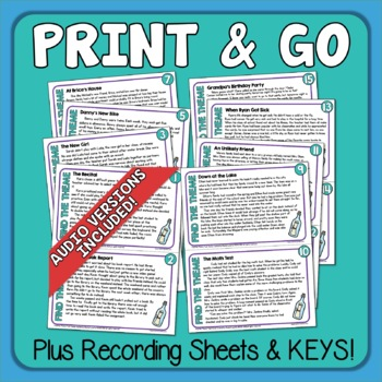 Theme Task Cards and Slides Differentiated Google Classroom Distance Learning