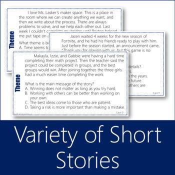 Theme Task Cards 2 (Fiction)