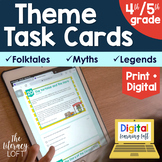 Theme Task Cards 4th/5th Grade   Distance Learning   Google Apps
