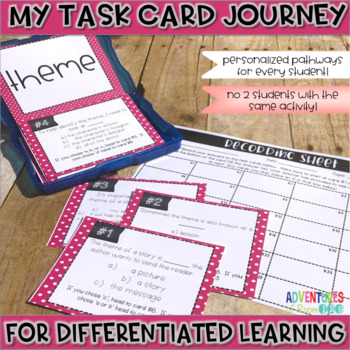 Theme Task Cards (Differentiated)