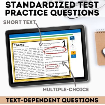 Theme Task Cards - Digital Boom Cards