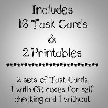 Theme Task Cards & Printables