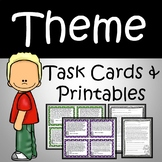 Identifying Theme Task Cards & Teaching Theme Distance Lea