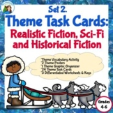 Theme Task Cards Set 2 Genre: Realistic,Historical, and Sc