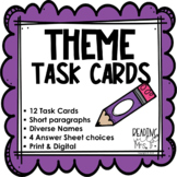 Theme Task Cards (Student-friendly paragraphs)