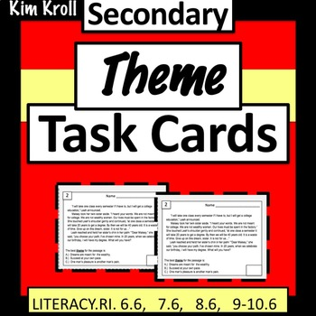 Theme Task Cards for Secondary Students