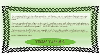 Theme Task Cards for generating a story