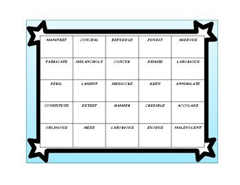 Theme Task Cards for grades 5th - 8th