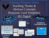 Theme Teaching Theme & Abstract Nouns Response Cards Common Core
