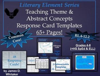 Theme Teaching Theme & Abstract Nouns Response Cards Common Core