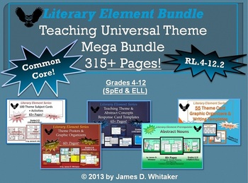 Theme Teaching Theme Mega Bundle -- 7 Products in 1! Common Core