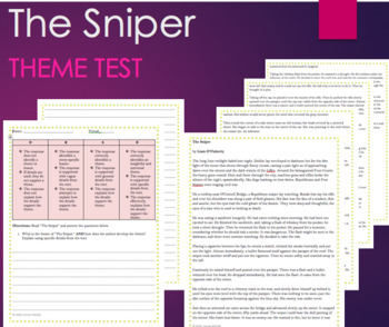 Theme Test - The Sniper - Short Story - Text and Test/Question