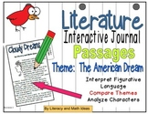 (Theme: The American Dream) Literature Passages for Interactive Journals