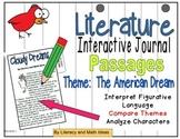 (Theme: The American Dream) Literature Passages for Intera