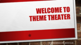 Theme Theater Classroom Transformation Materials