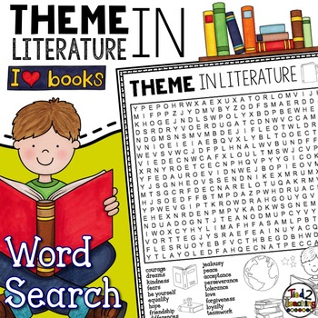 Theme: Theme of a Story Word Search Activity