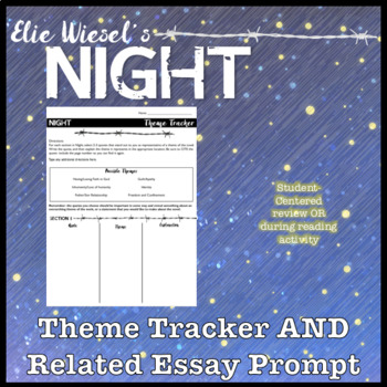 Theme Tracker Graphic Organizer for Elie Wisel's Night